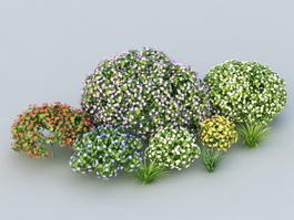 Landscaping Flower Bushes 3d model