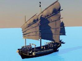 Medieval Ship 3d model