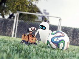 WALL-E and EVE 3d model