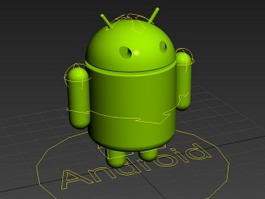 Android Robot Rig 3d model