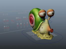Cartoon Snail Rig 3d model