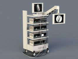 Medical Monitoring Equipment 3d model
