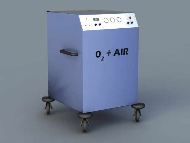 Medical Oxygen Equipment 3d model