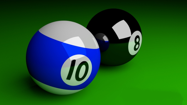 Cue Ball 3d rendering