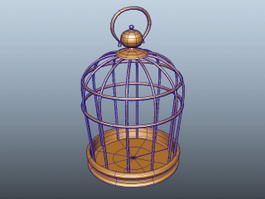 Brass Bird Cage 3d model