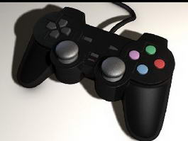 Black Gamepad 3d model