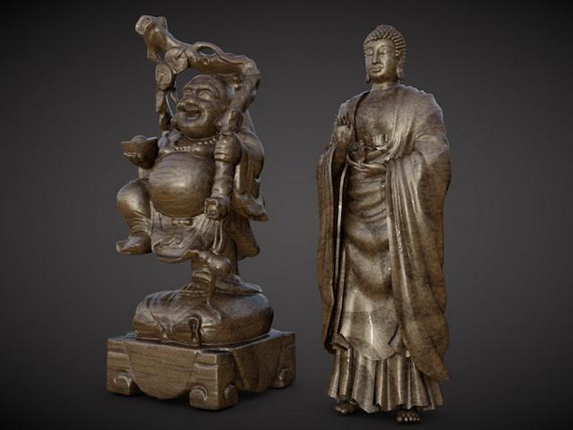 Maitreya Buddha Statue 3d model