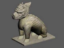 Chinese Qilin Statue 3d model