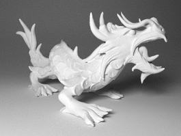 Chinese Dragon Statues 3d model