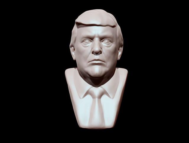 Donald Trump Bust Statue 3d Model Object Files Free