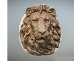 Lion Head Wall Sculpture 3d model