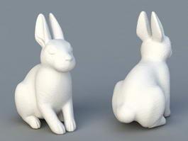 Rabbit Statues Outdoor 3d model