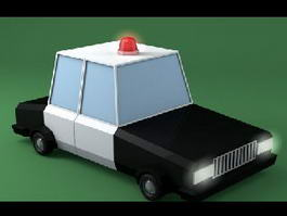 Cop Car Cartoon 3d model