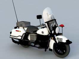 Police Motorcycle 3d preview