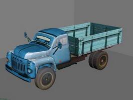 Old Blue Truck 3d model