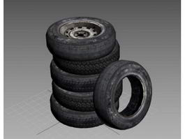 Tires Stacked 3d model