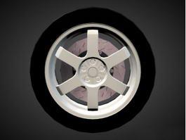 Original Wheel 3d model
