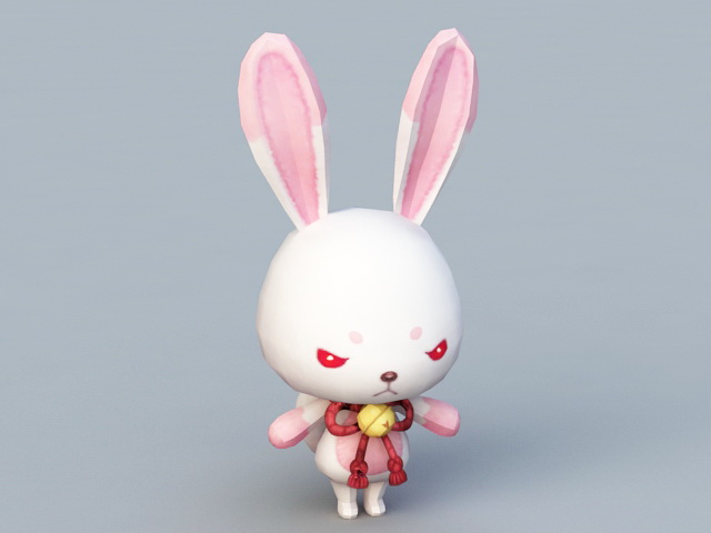 Cute Anime Rabbit 3d Model 3ds Max Files Free Download