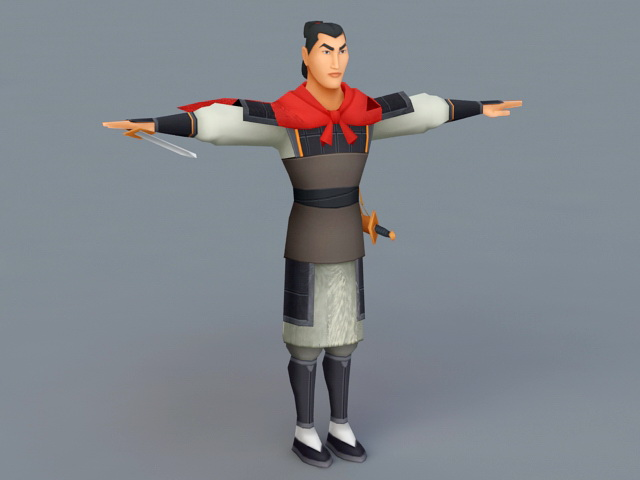 Li Shang From Disney Mulan 3d Model 3ds Max Files Free