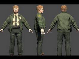 Deputy Sheriff Grant 3d model