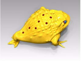 Golden Toad Cartoon 3d model