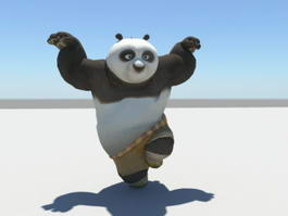 Kung Fu Panda PO 3d preview