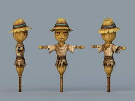 Fall Scarecrow 3d model