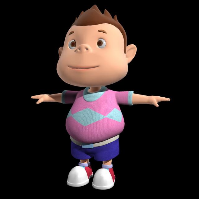 Cute Cartoon Boy 3d model