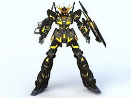 Unicorn Gundam Banshee 3d model