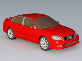 Nissan Altima Red 3d model