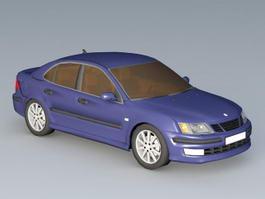 Saab 9-3 Sedan Car 3d model