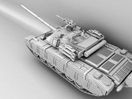 Chinese Type 99 Tank 3d model