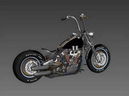 Harley-Davidson Knucklehead 3d model