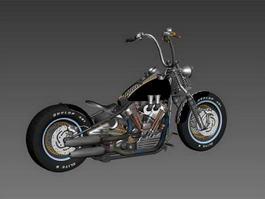Harley-Davidson Knucklehead 3d model
