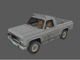 Dirty Old Pickup Truck 3d model