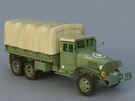 GMC Army Truck 3d model
