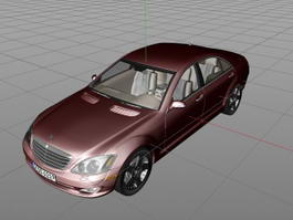 Mercedes S Class Sedan 3d preview