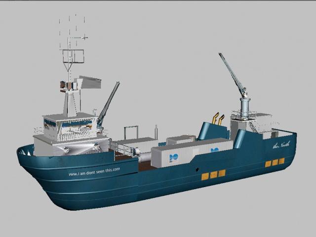 Commercial Fishing Vessel 3d Model Object Files Free