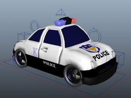 Police Wagon Cartoon Rig 3d model