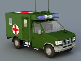 Military Ambulance 3d model