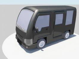 Mini Bus Cartoon 3d preview