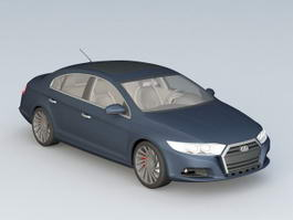 Navy Blue Car 3d model