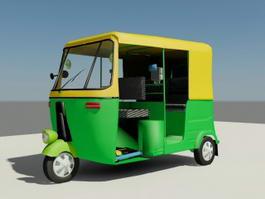 Bajaj Auto Rickshaw India 3d model
