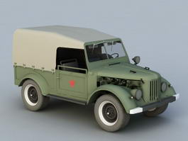 GAZ-69 Light Truck 3d model