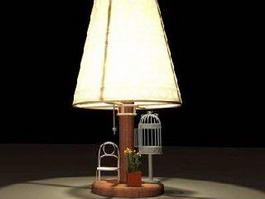 Rustic Table Lamp 3d model