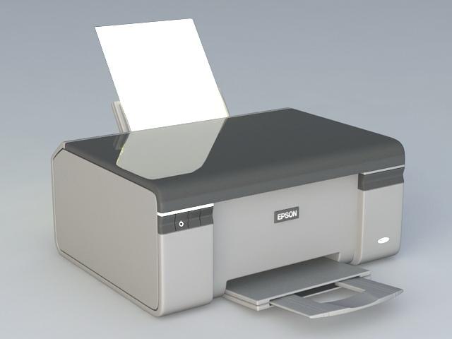 Epson printer 3d model 3d studio 3ds max files free for 3d studio max download