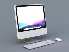 Apple iMac Desktop Computer 3d model