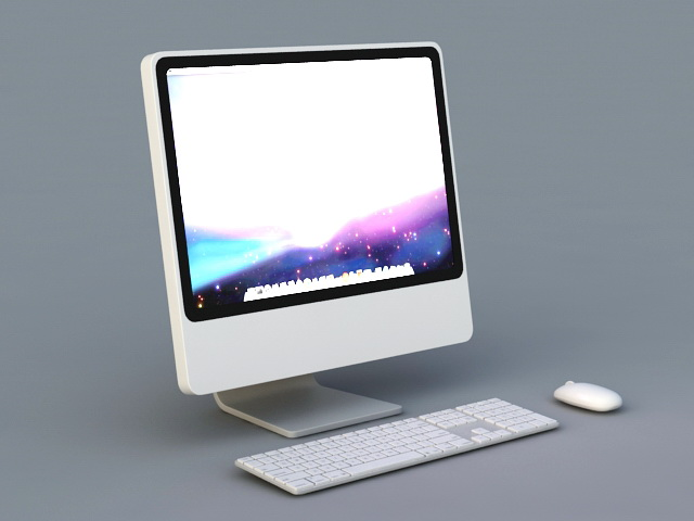 Apple Imac Desktop Computer 3d Model 3ds Max Files Free
