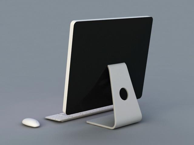 Apple iMac Desktop Computer 3d rendering