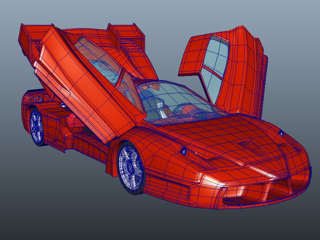 Enzo Ferrari 3d model Maya files free download - modeling 42136 on